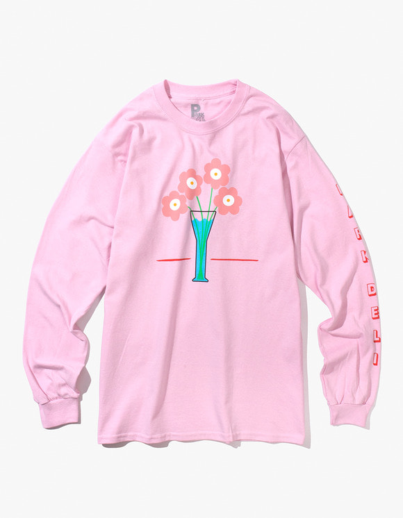 PARK DELI Flower Care L/S Tee - Soft Pink | HEIGHTS. | International Store