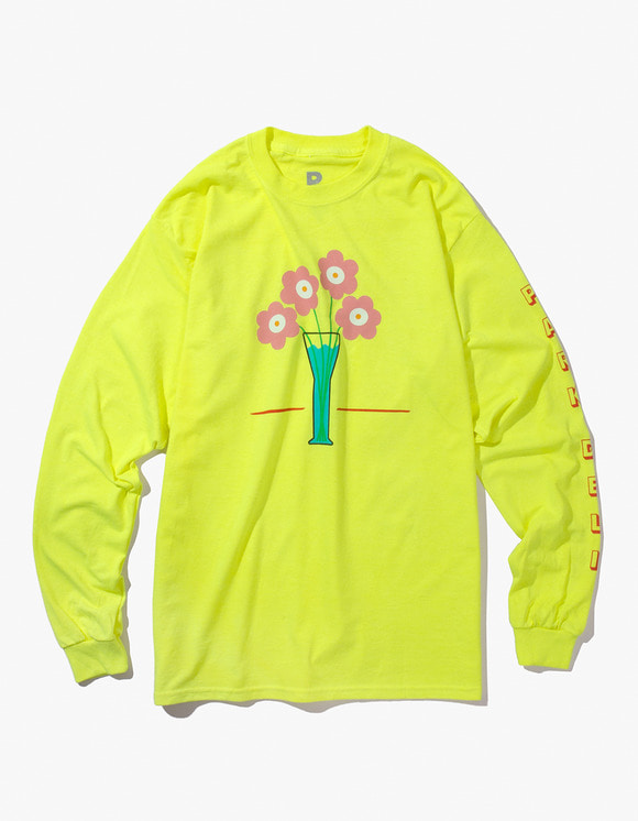 PARK DELI Flower Care L/S Tee - Saftey Yellow | HEIGHTS. | International Store