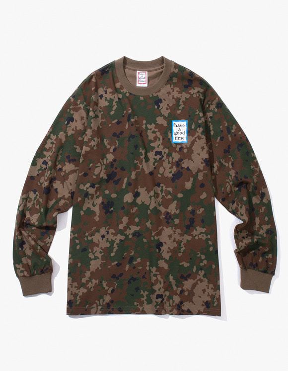 have a good time Blue Mini Frame L/S Tee - Camo | HEIGHTS. | International Store