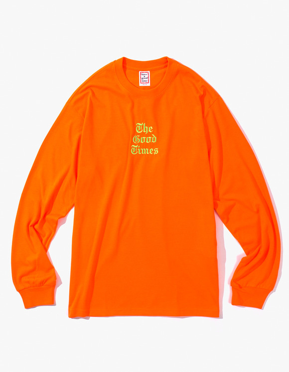 have a good time Good Time L/S Tee - Neon Orange | HEIGHTS. | International Store