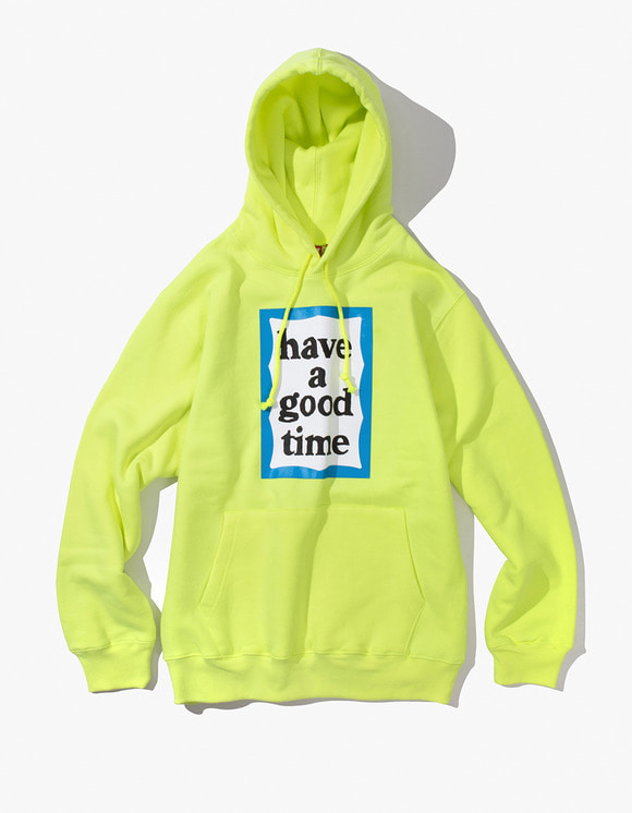 have a good time Blue Frame Pullover Hoodie - Neon Green | HEIGHTS. | International Store