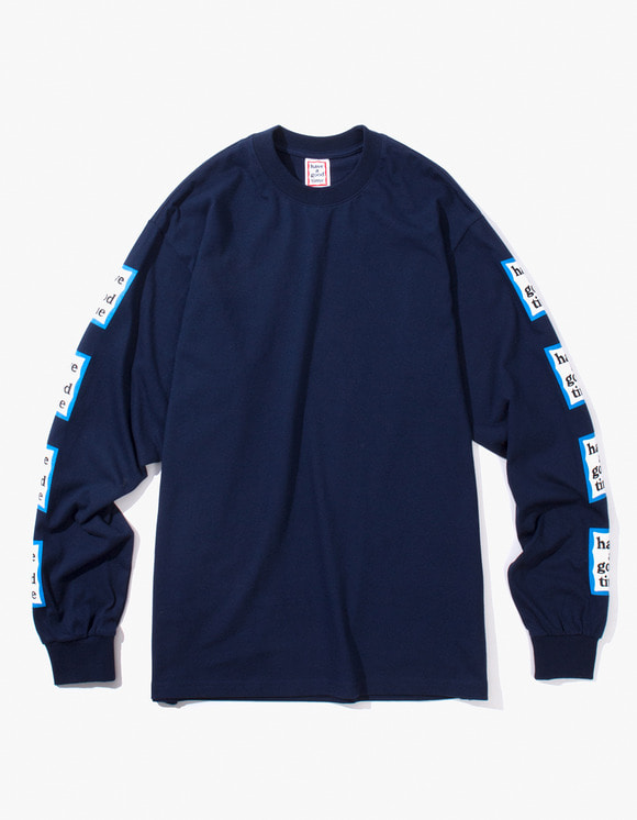 have a good time Blue Arm Frame L/S Tee - Navy | HEIGHTS. | International Store