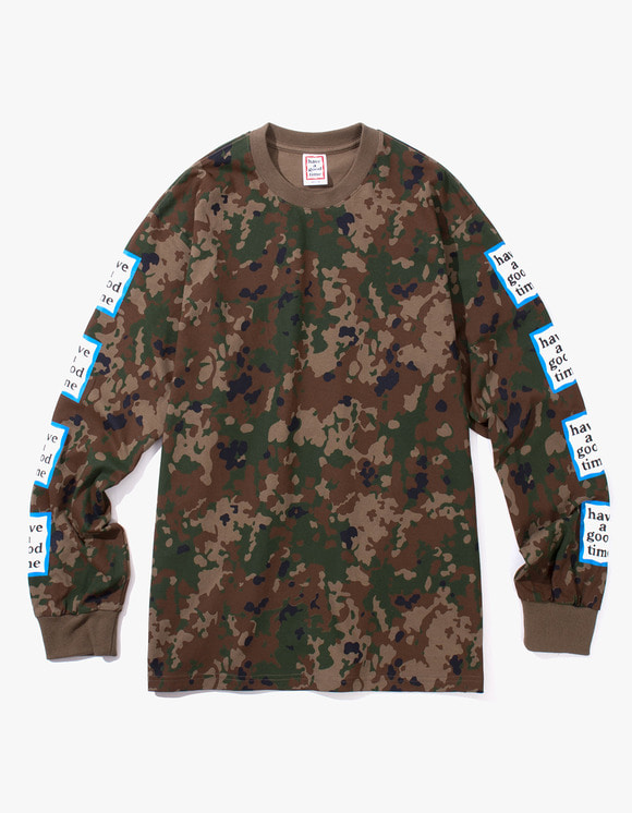 have a good time Blue Arm Frame L/S Tee - Camo | HEIGHTS. | International Store