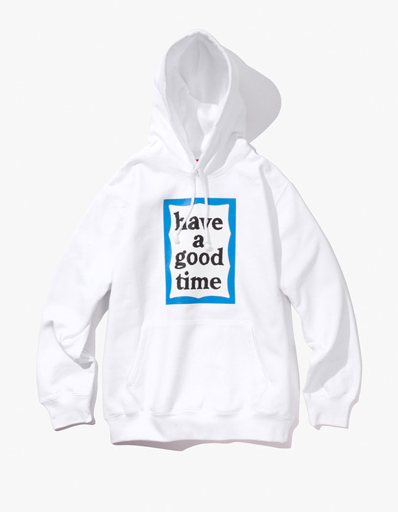 have a good time Blue Frame Pullover Hoodie - White | HEIGHTS. | International Store