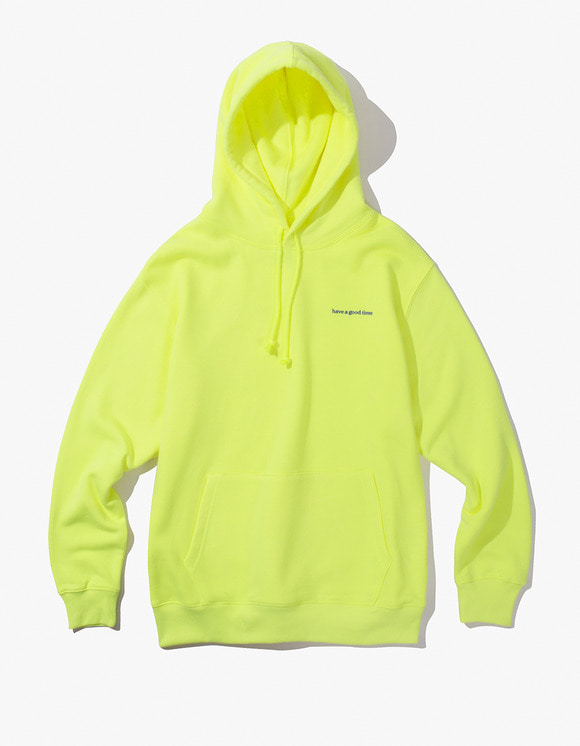 have a good time Side Logo Pullover Hoodie - Neon Green | HEIGHTS. | International Store