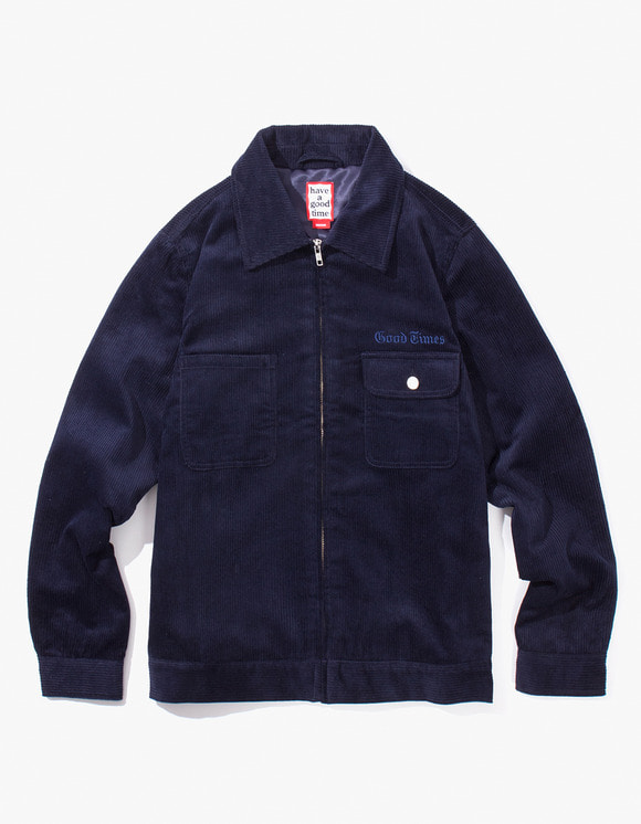 have a good time Good Times Corduroy Jacket - Navy | HEIGHTS. | International Store