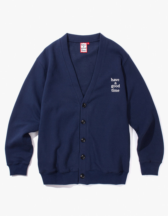 have a good time Sweat Cardigan - Navy | HEIGHTS. | International Store