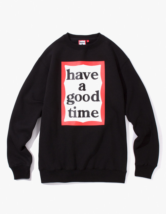 have a good time Frame Crewneck - Black | HEIGHTS. | International Store