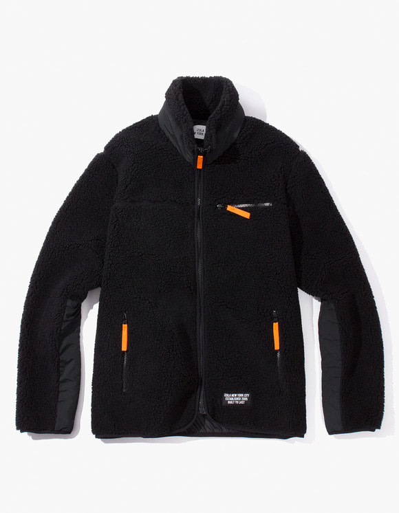 IZOLA NYC Fleece Zip-Up Jacket - Black | HEIGHTS. | International Store