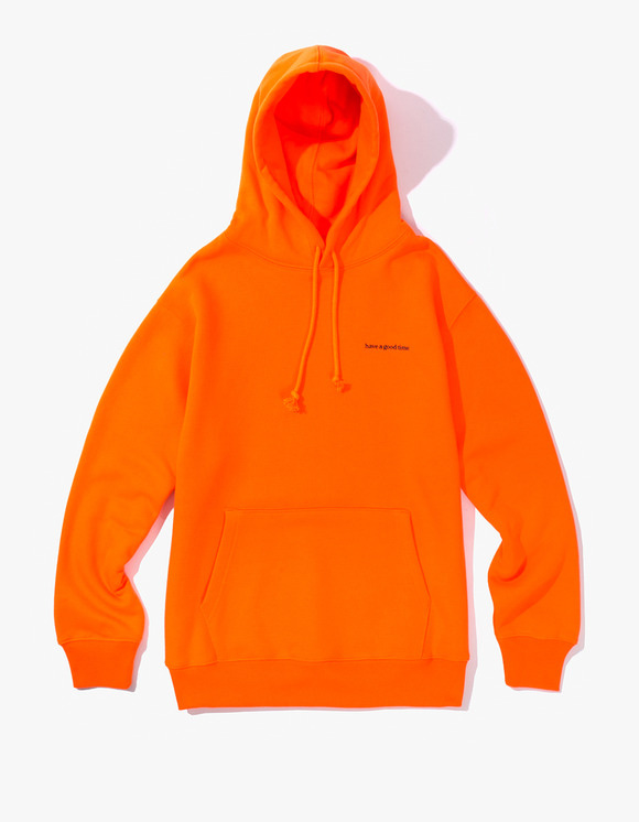 have a good time Side Logo Pullover Hoodie - Neon Orange | HEIGHTS. | International Store