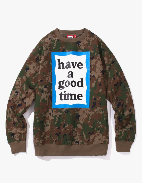 have a good time Blue Frame Crewneck - Camo | HEIGHTS. | International Store