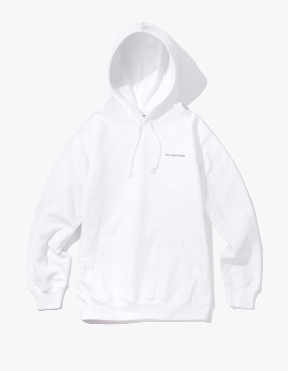 have a good time Side Logo Pullover Hoodie - White | HEIGHTS. | International Store