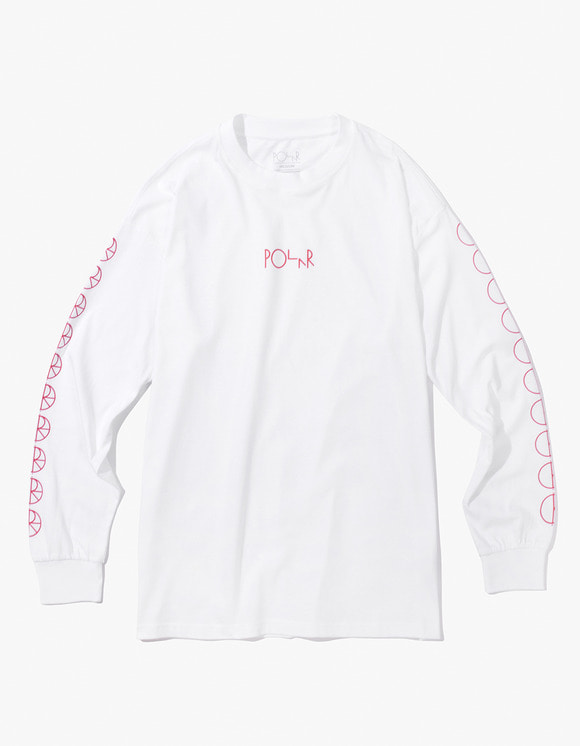 Polar Skate Co. Racing Longsleeve Tee - White/Red | HEIGHTS. | International Store