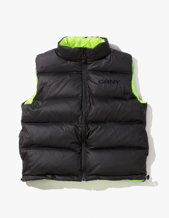 CORNY / BOOTLEG 'Human Sweeper' Riversible Puff Vest | HEIGHTS. | International Store