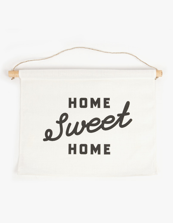 Three Potato Four Linen Banner - Home Sweet Home Script | HEIGHTS. | International Store