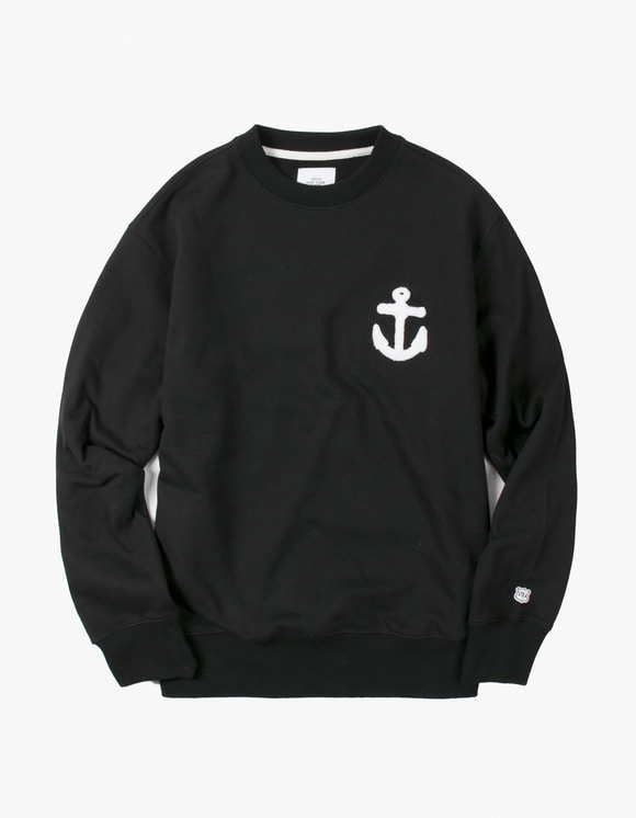 IZOLA NYC Anchor Crewneck - Black | HEIGHTS. | International Store