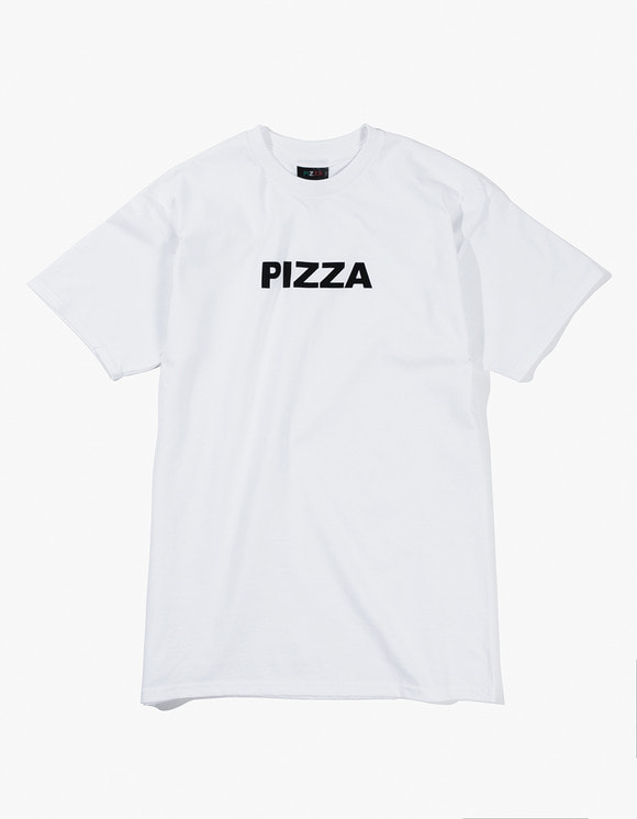Pizza Skateboards Logo Tee - White | HEIGHTS. | International Store