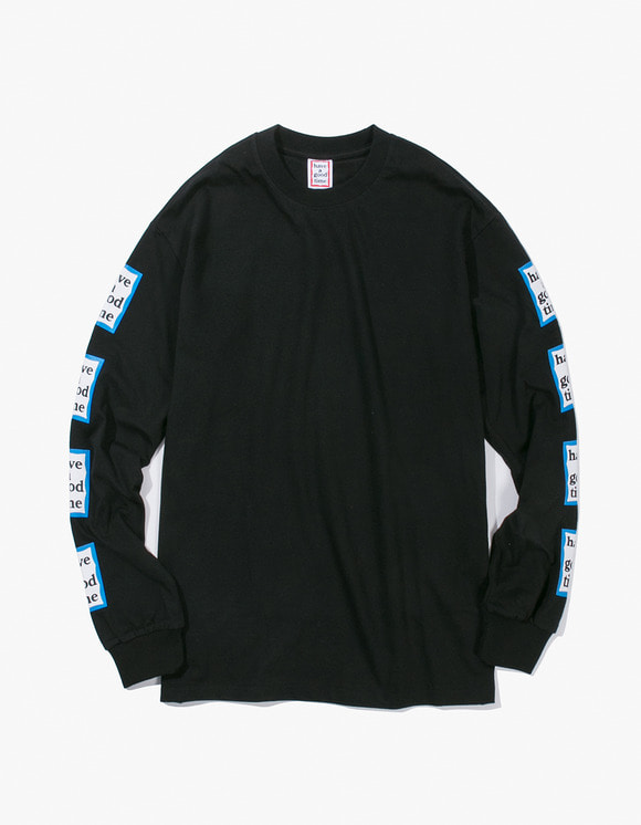 have a good time Arm Blue Frame L/S Tee - Black | HEIGHTS. | International Store