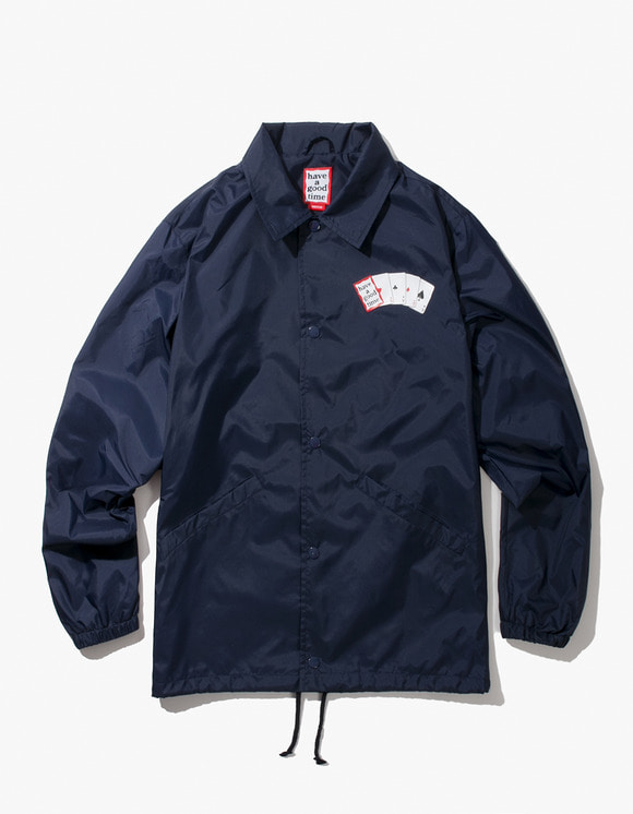 have a good time Playing Card Coach Jacket - Navy | HEIGHTS. | International Store