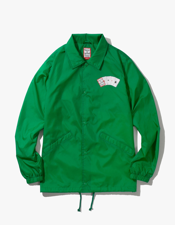 have a good time Playing Card Coach Jacket - Green | HEIGHTS. | International Store