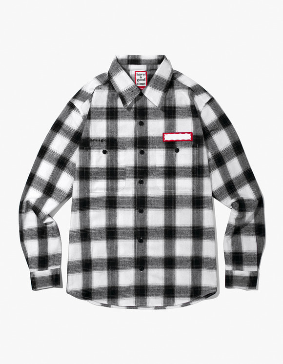 have a good time Shadow Flannel Shirts - White | HEIGHTS. | International Store