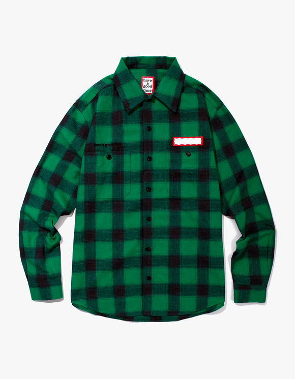 have a good time Shadow Flannel Shirts - Green | HEIGHTS. | International Store