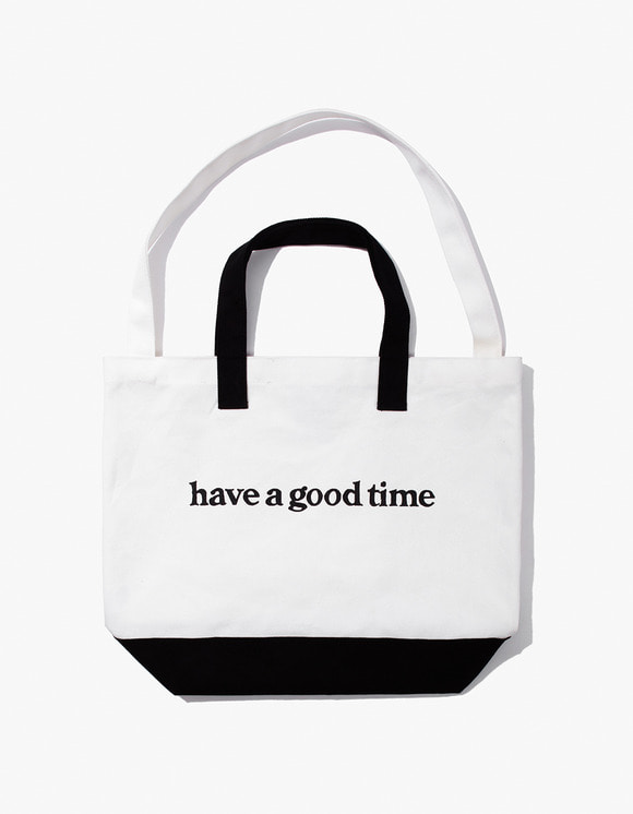 have a good time Side Logo 2-Way Tote Bag - Black | HEIGHTS. | International Store