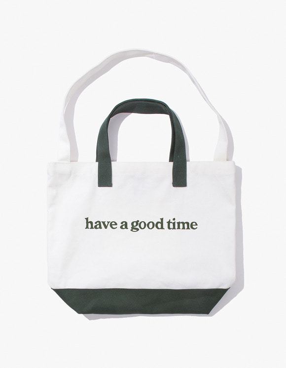 have a good time Side Logo 2-Way Tote Bag - Dark Green | HEIGHTS. | International Store