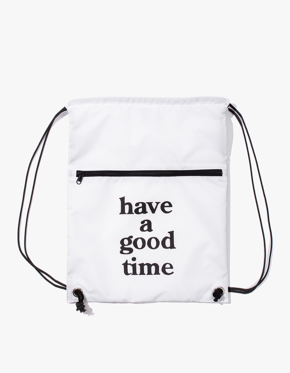 have a good time Logo Knapsack - White | HEIGHTS. | International Store