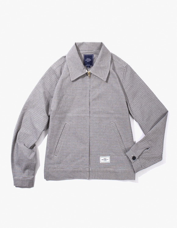IZOLA NYC Check Zip-up Jacket - Blue | HEIGHTS. | International Store