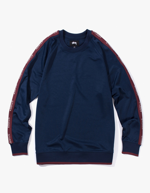 Stussy Poly Track Crew - Navy | HEIGHTS. | International Store