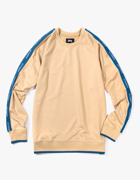 Stussy Poly Track Crew - Beige | HEIGHTS. | International Store