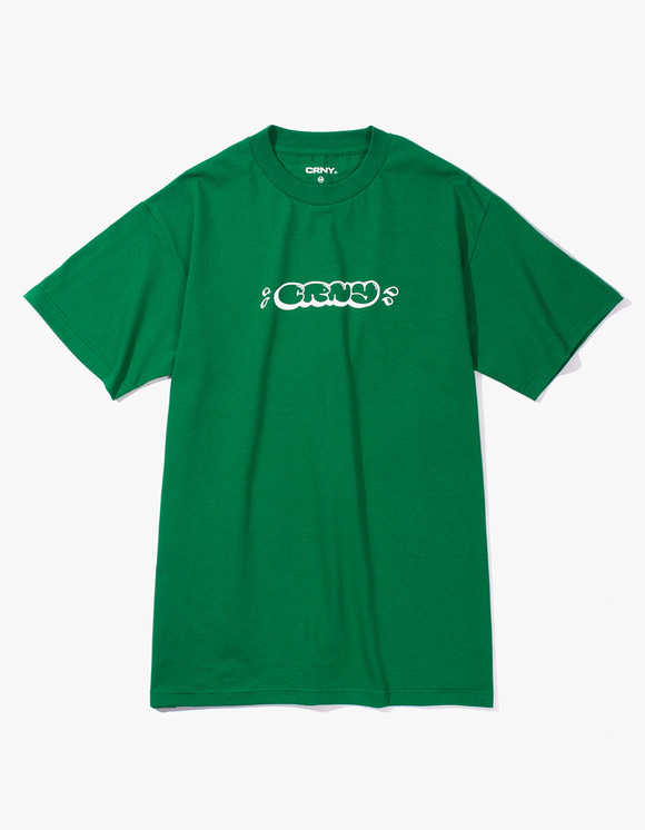 CORNY / BOOTLEG CRNY Bubble Logo T-Shirts - Green | HEIGHTS. | International Store
