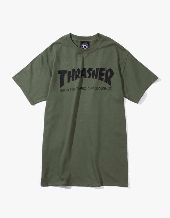Thrasher Skate Mag S/S Tee - Army | HEIGHTS. | International Store