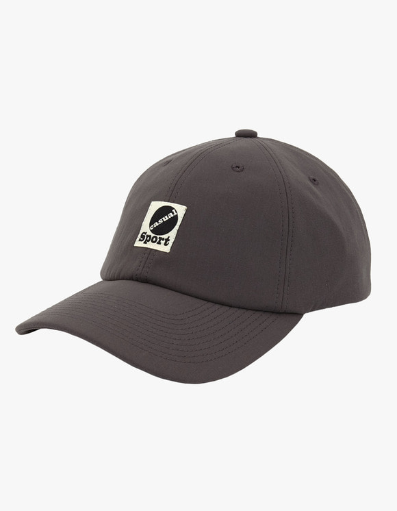 Heritage Floss Nylon Taffeta 6 Panel Cap - Charcoal | HEIGHTS. | International Store