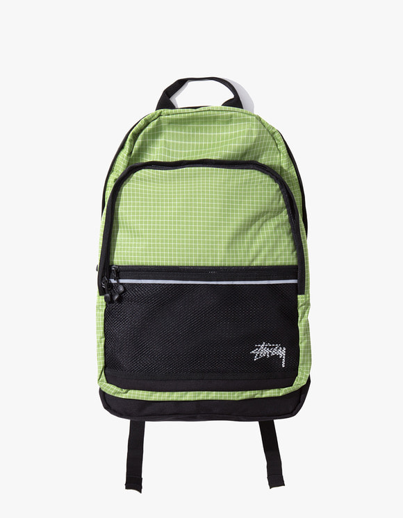 Stussy Ripstop Nylon Backpack - Lime | HEIGHTS. | International Store