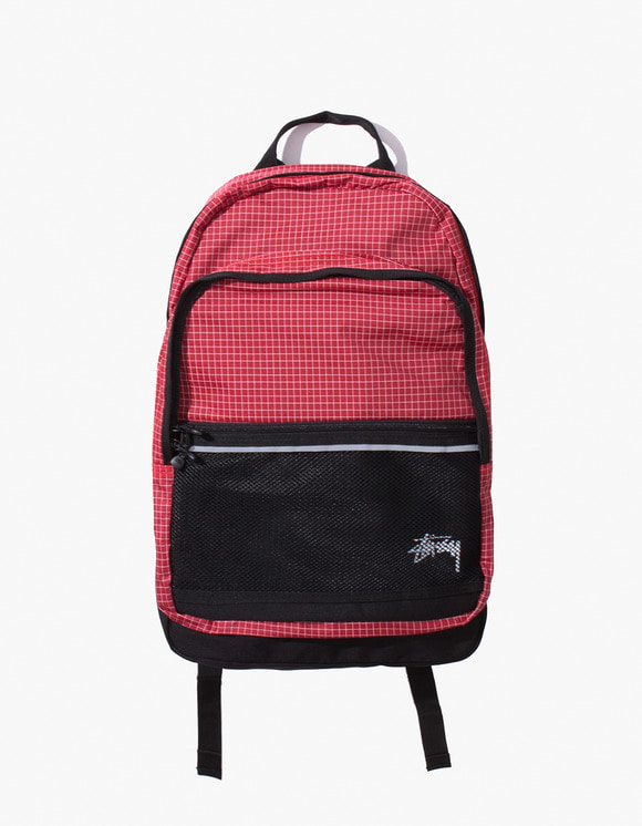 Stussy Ripstop Nylon Backpack - Red | HEIGHTS. | International Store