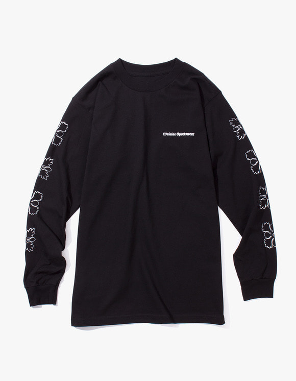 Waialae Sportswear Quilt Longsleeve T-Shirt - Black | HEIGHTS. | International Store