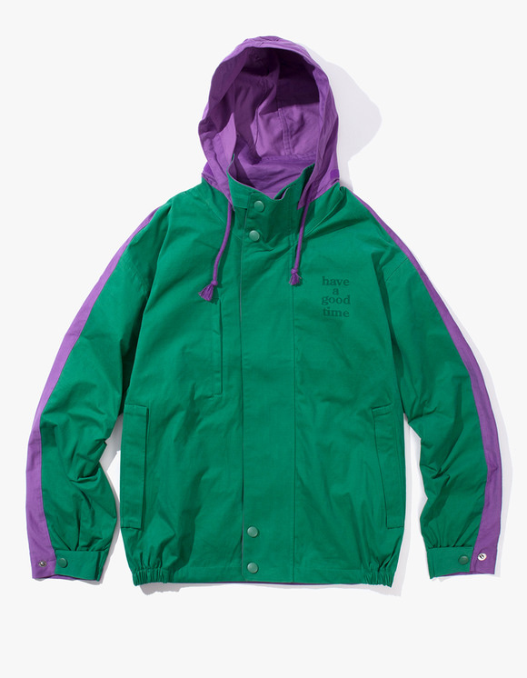 have a good time 2 Face Jacket - Green/Purple | HEIGHTS. | International Store