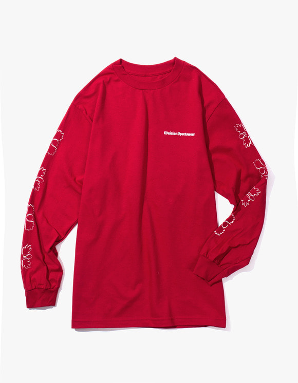 Waialae Sportswear Quilt Longsleeve T-Shirt - Cardinal | HEIGHTS. | International Store