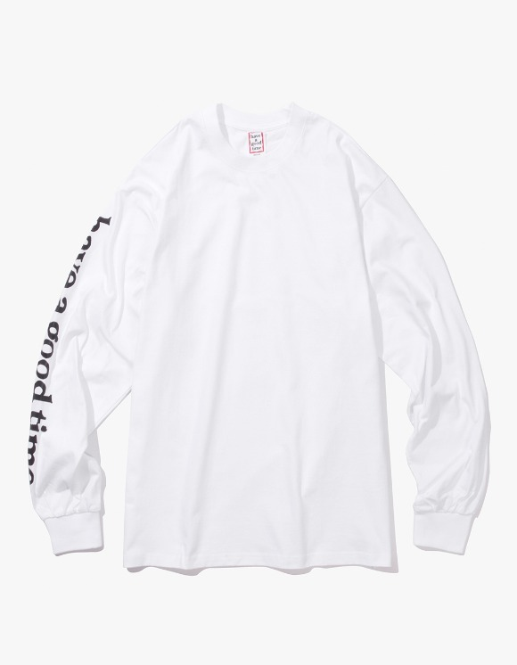 have a good time Apparaitre L/S Tee - Whtie | HEIGHTS. | International Store