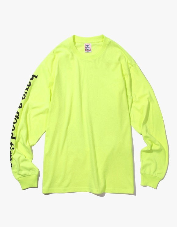 have a good time Apparaitre L/S Tee - Neon Green | HEIGHTS. | International Store