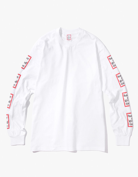 have a good time Arm Frame L/S Tee - White | HEIGHTS. | International Store