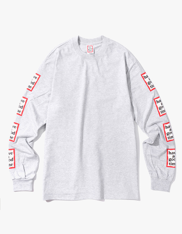 have a good time Arm Frame L/S Tee - Heather Grey | HEIGHTS. | International Store
