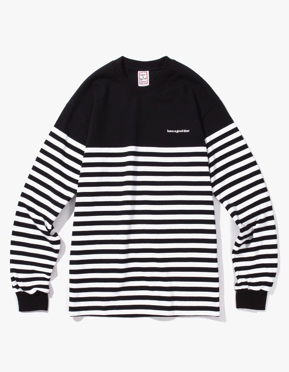 have a good time Stripe L/S Tee - Black/White | HEIGHTS. | International Store