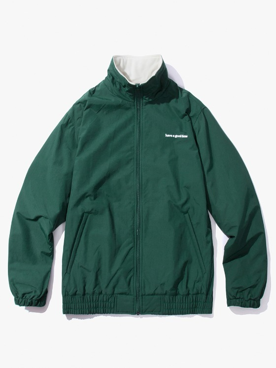 have a good time Side Logo Inner Fleece Jacket - Dark Green | HEIGHTS. | International Store