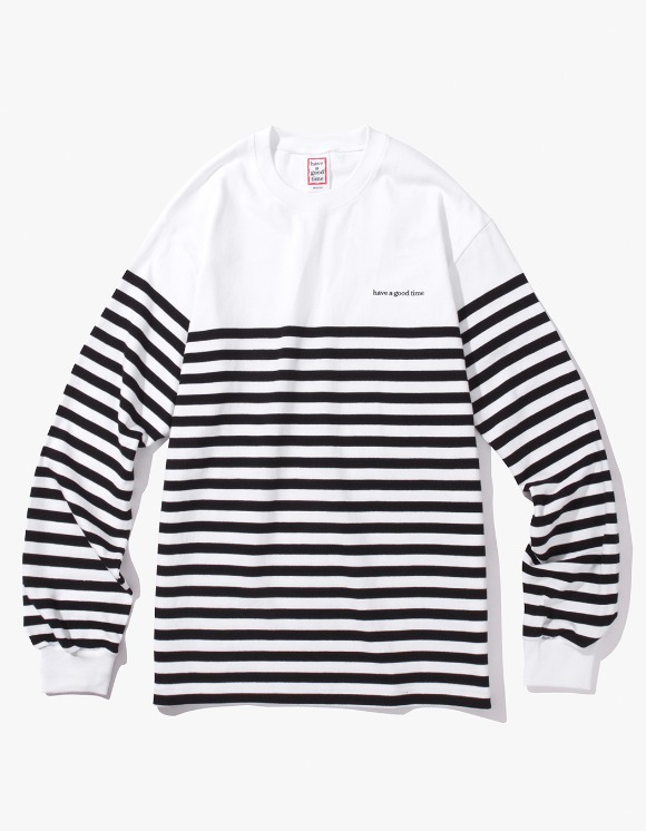 have a good time Stripe L/S Tee - White/Black | HEIGHTS. | International Store