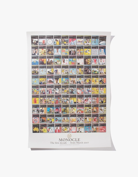 Monocle 10th-Anniversary Poster | HEIGHTS. | International Store