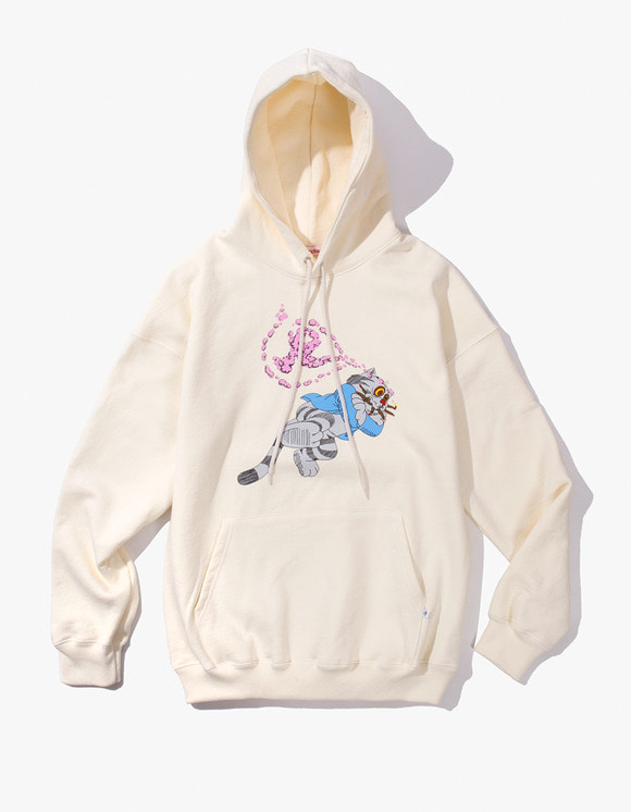 Richardson Fritz  the Cat Smoked Out Hoodie - Winter White | HEIGHTS. | International Store