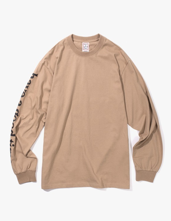 have a good time Apparaitre L/S Tee - Sand | HEIGHTS. | International Store